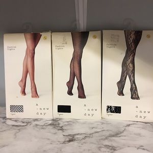 3 pair of A New Day fashion tights
